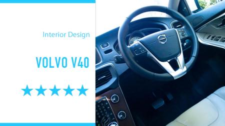 VOLVO V40 シンプルモダンな逸品インテリアデザインだ